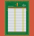 ramadan imsakia or amsakah calendar schedule vector image vector image