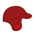 red baseball cap graphic vector image