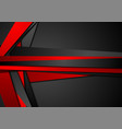 red black tech concept abstract background vector image