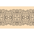 Seamless lace ribbon vector image vector image
