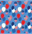 seamless pattern with patriotic balloons vector image vector image