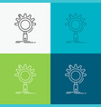 seo search optimization process setting icon over vector image vector image