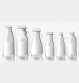 set full juice bottles mockup on transparent vector image