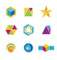 Set of geometrical logos vector image vector image