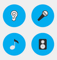 set of simple sound icons elements listen speaker vector image vector image