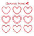 set of twisted framework in heart shape vector image vector image