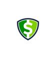 shield money logo icon design vector image