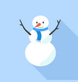 snow man icon flat style vector image vector image