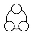 social network line icon symbol in outline style vector image vector image