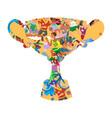 sports creative goblet award vector image