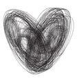 Srce sarano bw vector image vector image