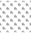 stethoscope pattern seamless vector image