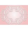 Stylish invitation or greeting card Elegant lace vector image vector image