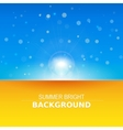 Sun rays sunbeams background vector image vector image