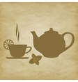 tea Cup with saucer vector image