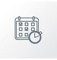 timetable icon line symbol premium quality vector image