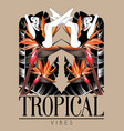 tropical vibes hand drawn girls vector image vector image