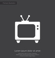 tv premium icon vector image