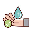 washing hands frequently prevent spread covid19 vector image vector image