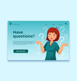 woman have questions questioning female person vector image vector image