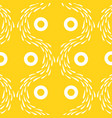 yellow wallpaper with white pattern vector image