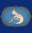zodiac sign capricron hybrid mythological animal vector image vector image