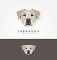 3d origami low polygon dog vector image vector image