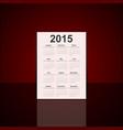 3D paper calendar 2015 year vector image vector image