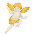 angel sculpture with gold elements baroque style vector image vector image