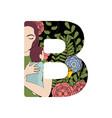 b font letter vector image