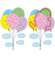 Balloons maze vector image vector image