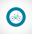 bike icon bold blue circle border vector image