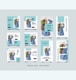 bundle minimalist social media post instagram vector image vector image