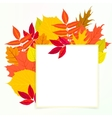 Card with autumn decor and leafs