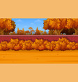 cartoon autumn landscape vector image