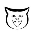 cat outline icon vector image