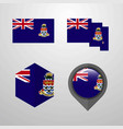 cayman islands flag design set vector image