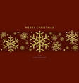 christmas backgrounds with gold snowflakes vector image vector image