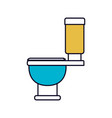 color sections silhouette of toilet icon side view vector image vector image
