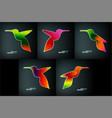 colorful abstract hummingbird vector image