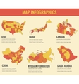 Country maps infographic template USA Japan vector image vector image