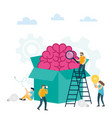creative idea think outside box vector image vector image