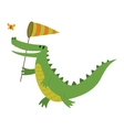 Cute crocodile character vector image
