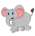 cute elephant cartoon walking vector image vector image