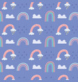 cute rainbow pattern vector image vector image