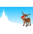 deer in the winter vector image