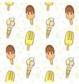 delicious ice cream color seamless vector image