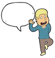digitally drawn male and speech bubbles design vector image vector image