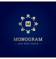 elegant simple monogram logo Geometric vector image