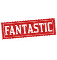 fantastic sign or stamp vector image vector image